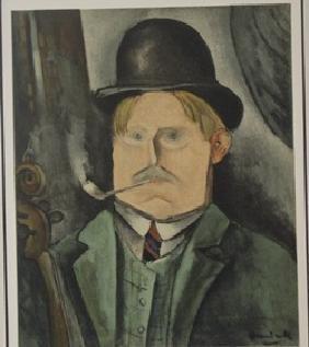 Portrait of the arist - Lithograph -  Maurice de