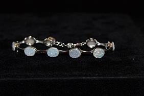 Fancy Opal Silver Bracelet