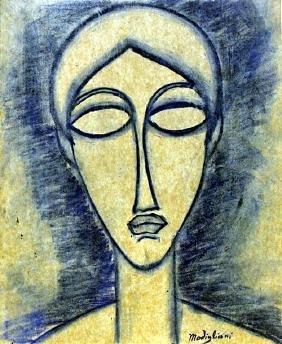 Head of a Woman 1910' - Amadeo Modigliani