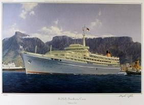 """Lithograph """"R.M.S. Southern Cross"""" after Stephen J."""