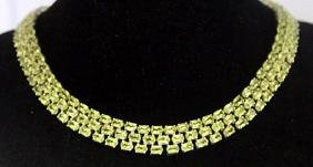 Very Fancy Heavy Sterling Silver All Natural Peridots