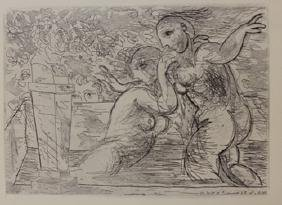 Two Nudes Bathing  - Lithograph-  Picasso