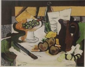 Still Life with Fruit - Lithograph -  Braque