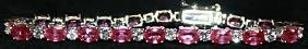 Gorgeous Pigeon Blood Rubies with White Sapphires
