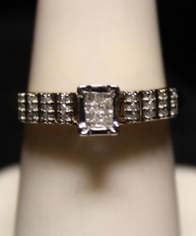 Lady's Fancy Diamond SS Ring