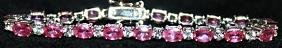 Gorgeous Pigeon Blood Rubies with White Topaz Sterling