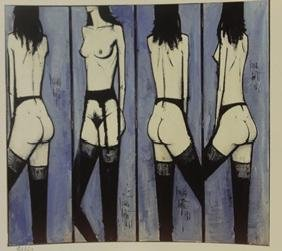 The Line Up - Lithograph -  Buffet