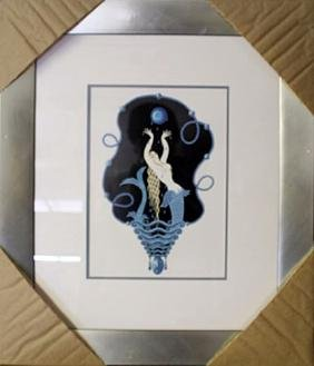 "Lithograph ""Mermaid"" By Erte"