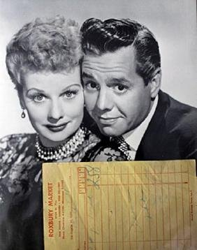"""Photograph of """"Lucelle Ball and Ricky Ricardo"""""""