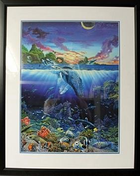 """Lithograph """"Three Worlds"""" By Robert Lyn Nelson"""