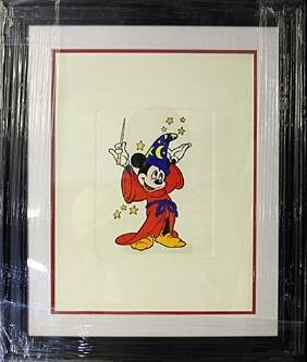 """Disney Etching """"Mickey From Fantasia"""""""