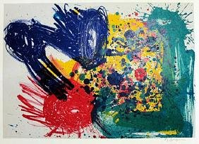 """Lithograph """"Untitled"""" By Samuel L. Francis"""