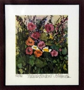 "Lithograph ""Natures Garden"" By Kathleen Morolda"