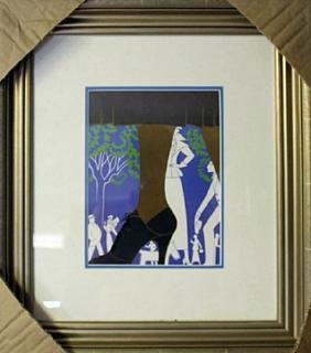 """Lithograph """"Brown Boot"""" By Erte"""
