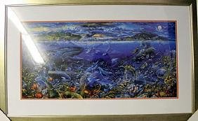 """Lithograph """"Three Worlds II"""" By Robert Lyn Nelson"""