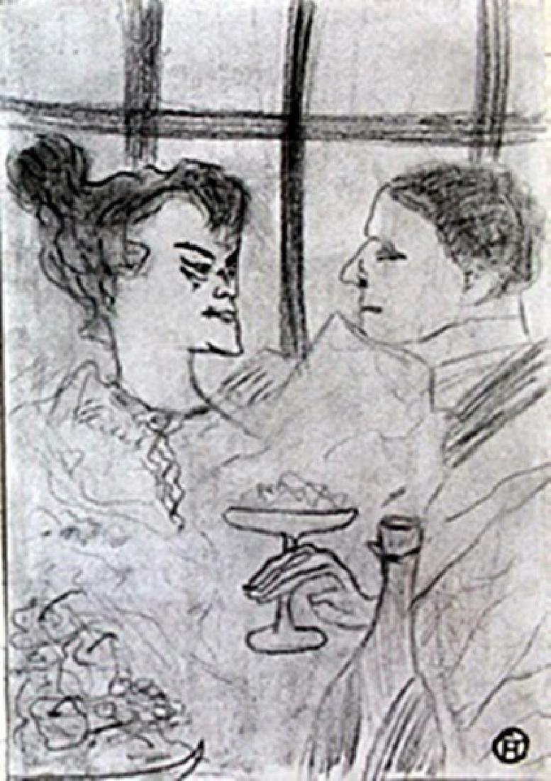 Untitled - Graphite Drawing - Henri Toulouse Lautrec