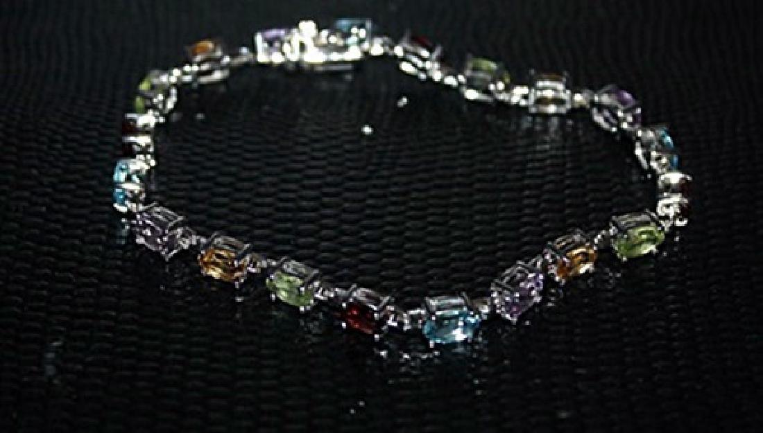 Lady's Fancy Royal Topaz, Peridot & Tanzanite Bracelet.