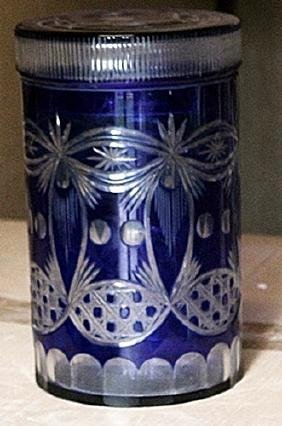 Fancy Blue Turkey Crystal Cookie Jar