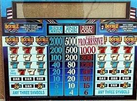 "Vintage Collectible Casino Slot Machine Glass ""Double"""