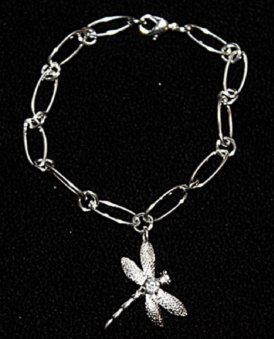 Stylish Silver Dragonfly Bracelet.