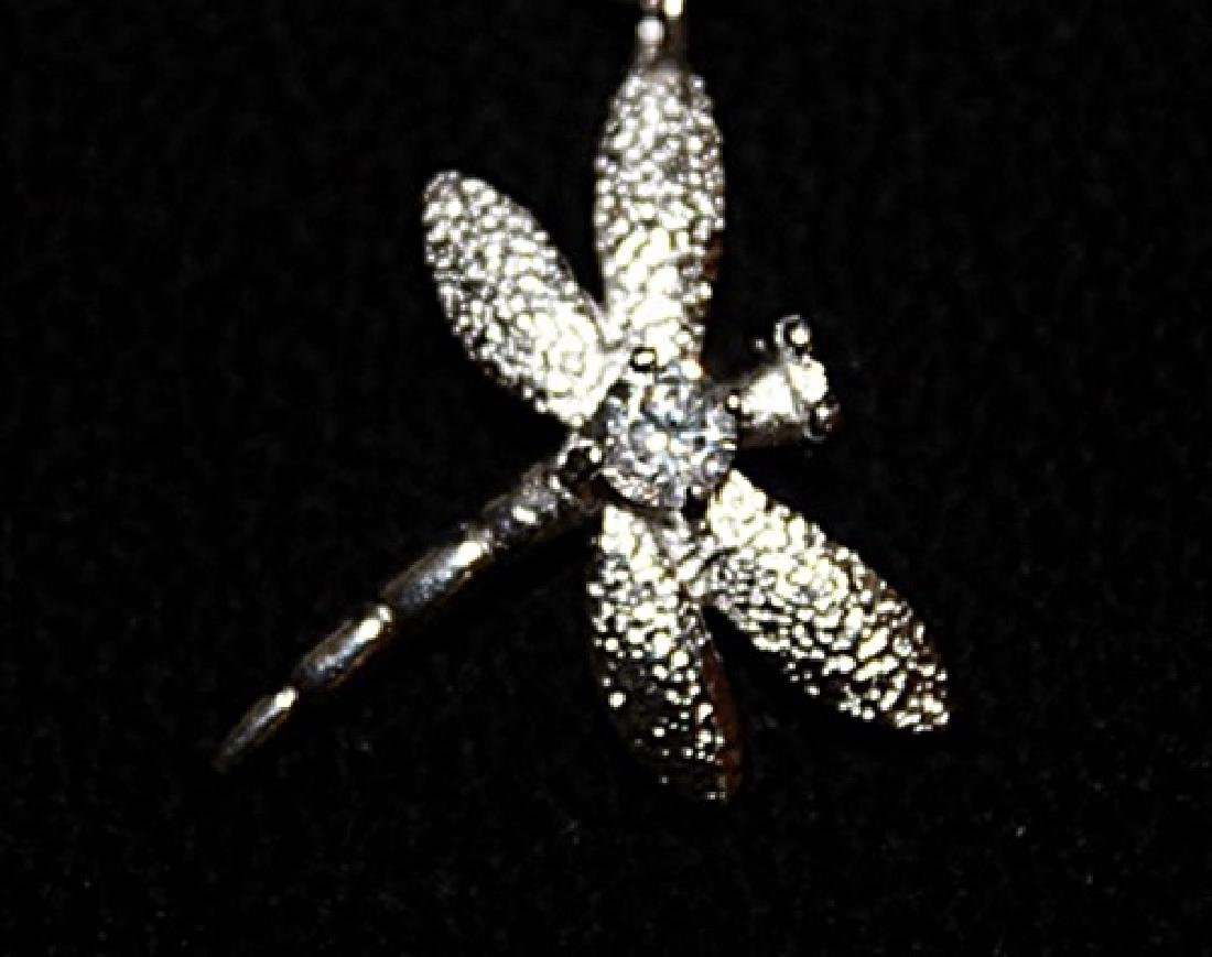 Stylish Silver Dragonfly Bracelet. - 2