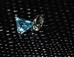 Beautiful Royal Blue Topaz Pendant.