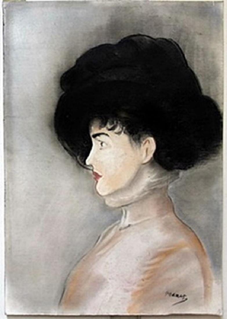 Pastel Painting on Paper by Edouard Manet