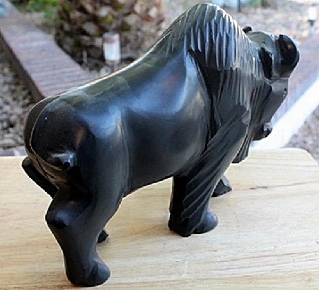 Black Onyx Buffalo Sculpture by Gabino (N) - 3