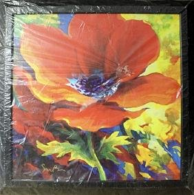 "Giclee on Cavas ""Red Poppy"" By Simon Bull"