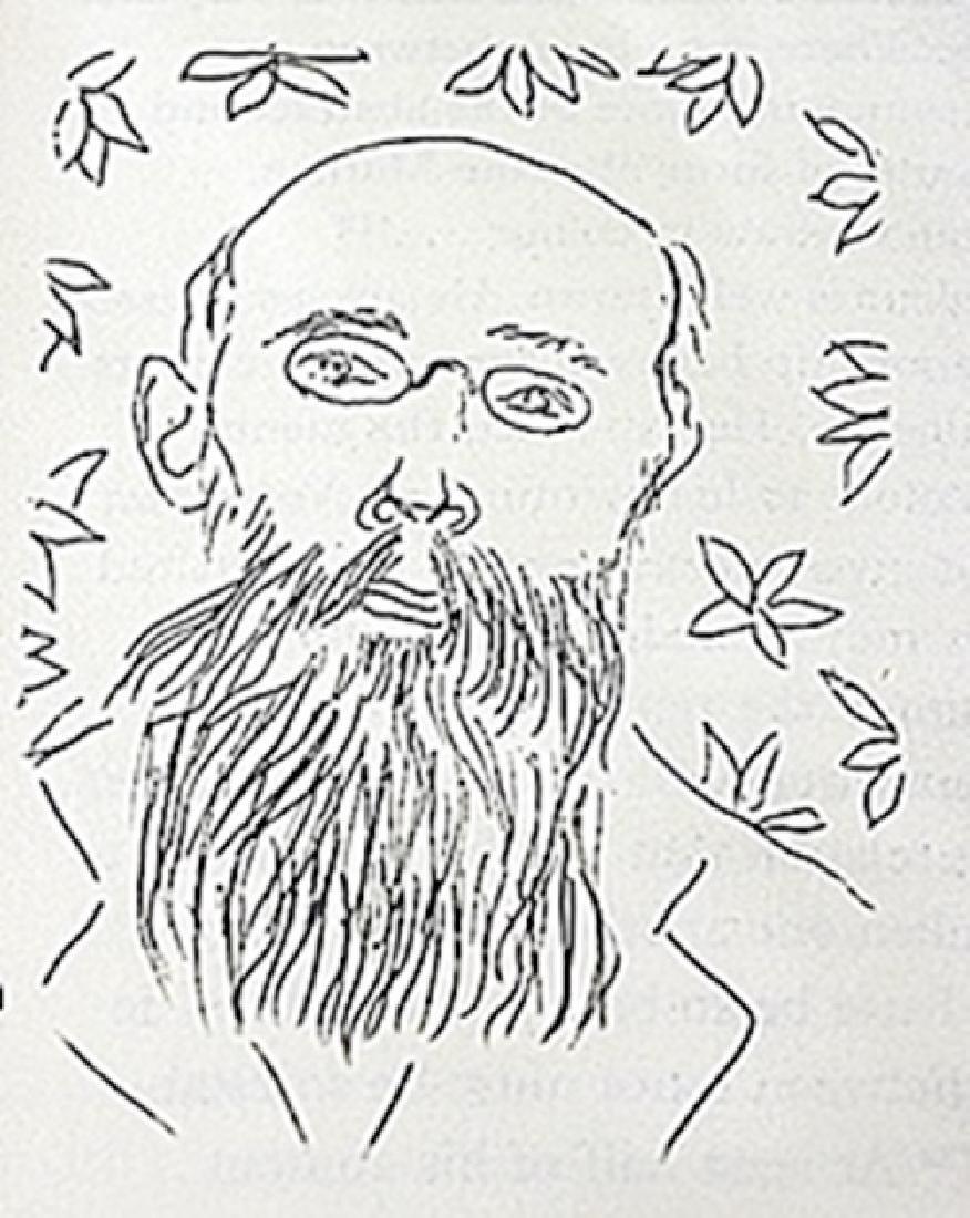 """Lithograph """"Portrait de Bourgeat""""  Henri Matisse"""