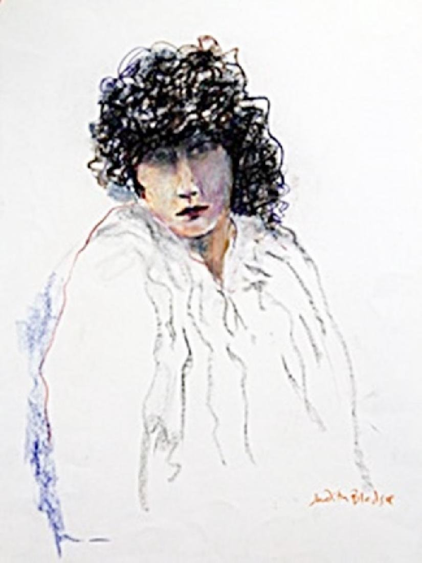 Yound Sarah - Hand Signed  Painting by Judith Bledsoe