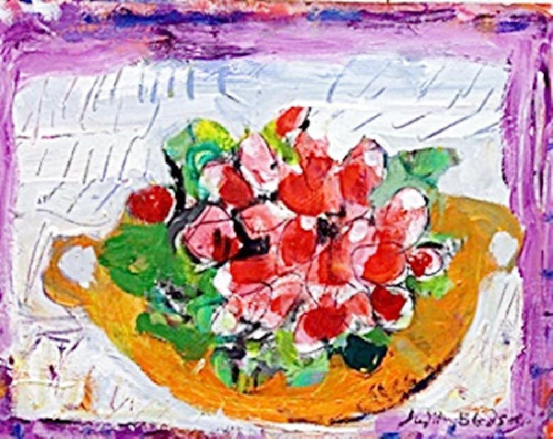 Some Radishes -  Painting on Canvas by Judith Bledsoe