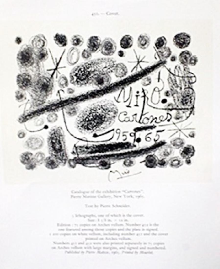 "Lithograph ""Derriere le Miroir""     Joan Miro"