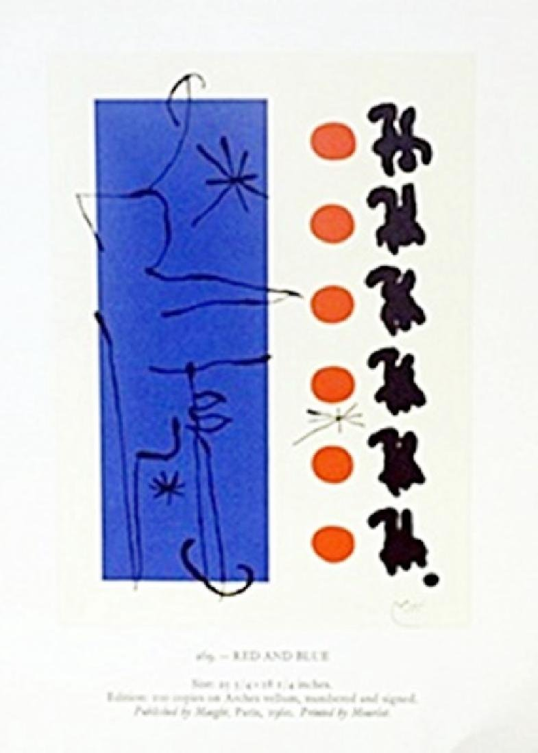 """Print """"Red and Blue""""     Joan Miro"""