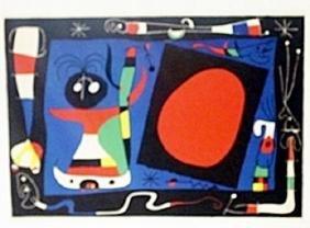 "Print ""Woman at the Miror""     Joan Miro"