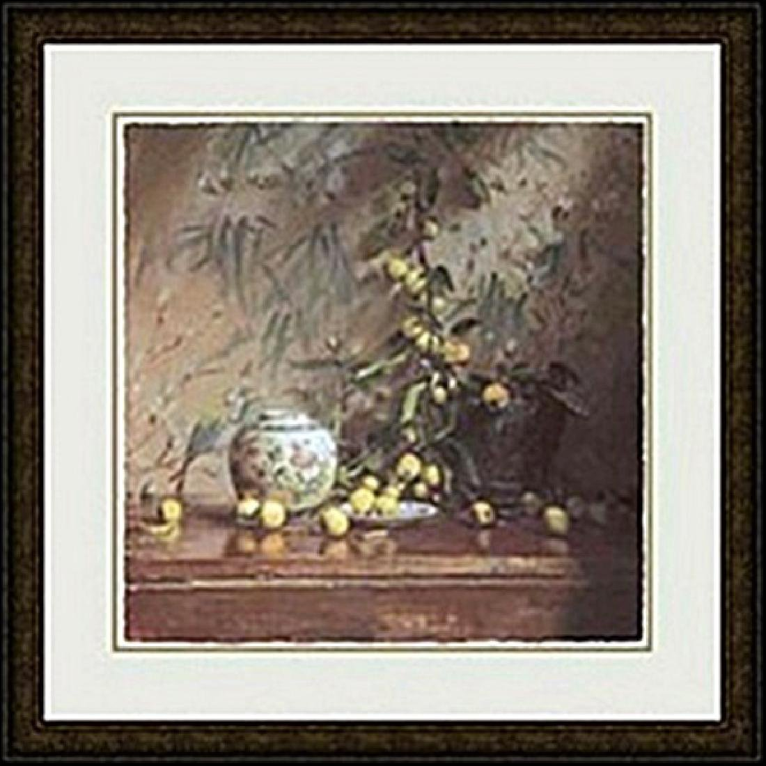 CRAB APPLES WITH JAPANESE PRINT     DEL GISH