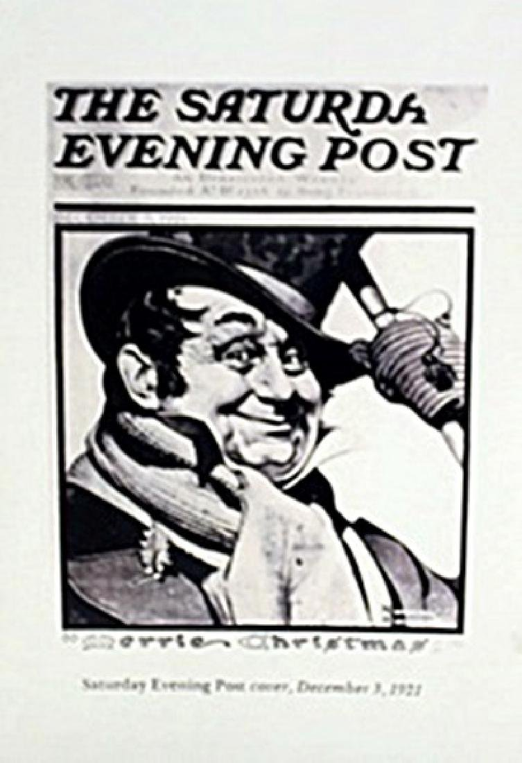 """Lithograph """"Saturday Evening Post""""     Norman Rockwell"""