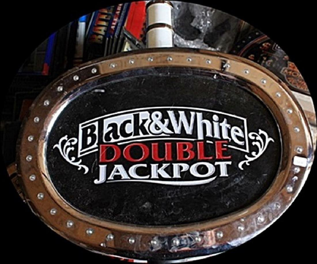 "Vintage ""Black & White"" Double Jackpot Casino Slots"