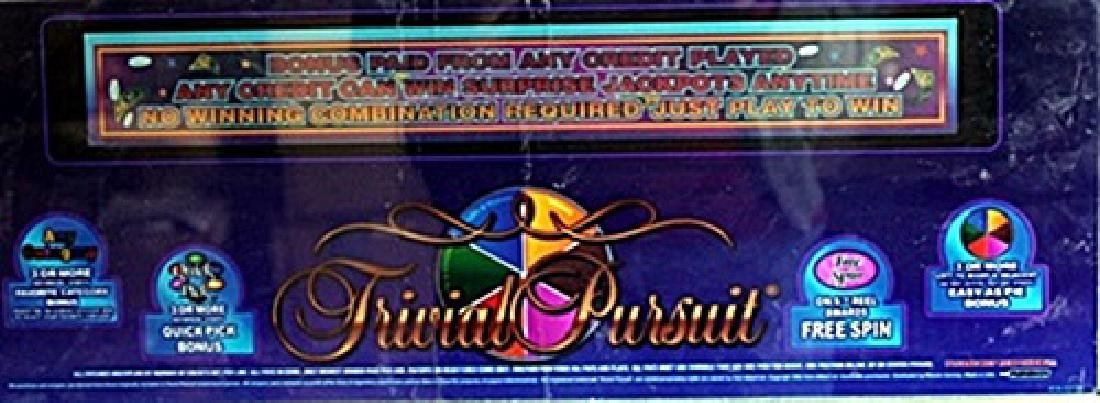 """Vintage Collectible Casino Slot Machine Glass """"Trivial"""