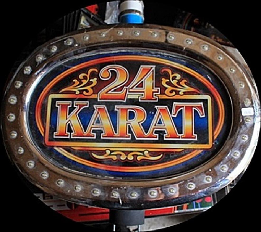 """Vintage """"24 Karat"""" Casino Slots Topper. (N)"""