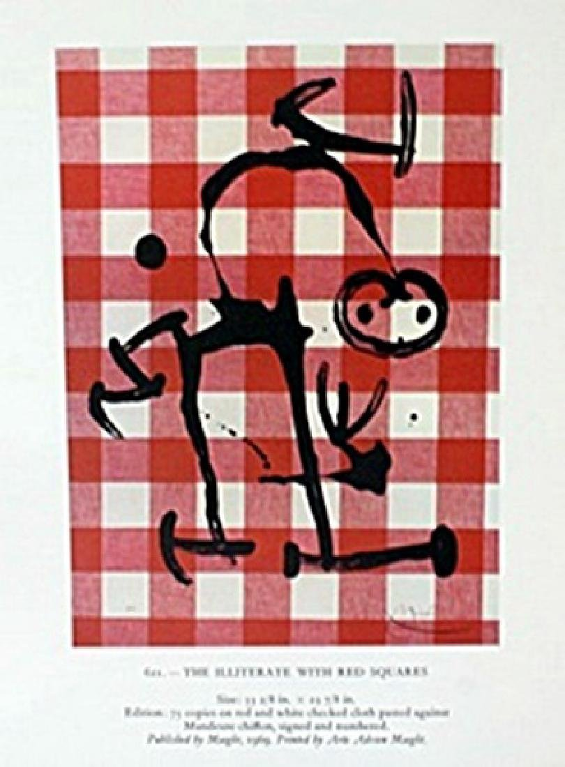 """Lithograph """"The Illiterate with Red Squares""""     Joan"""