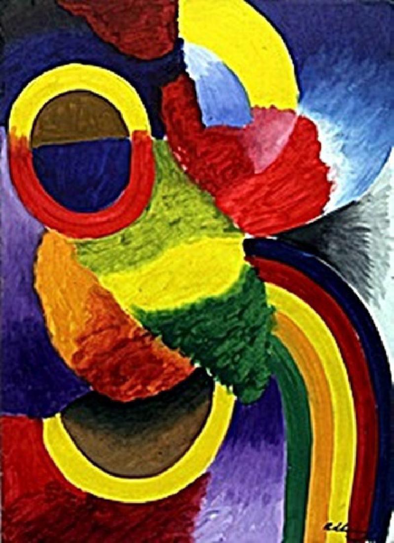 """The Rhythm"" Oil Painting - Robert Delaunay"