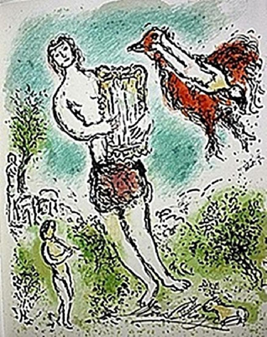 """Lithograph """"Theoclymenus""""     Chagall from the Odyssey"""