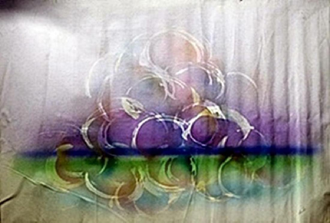 """Mixed Media on Canvas """"Grapes on Water"""""""
