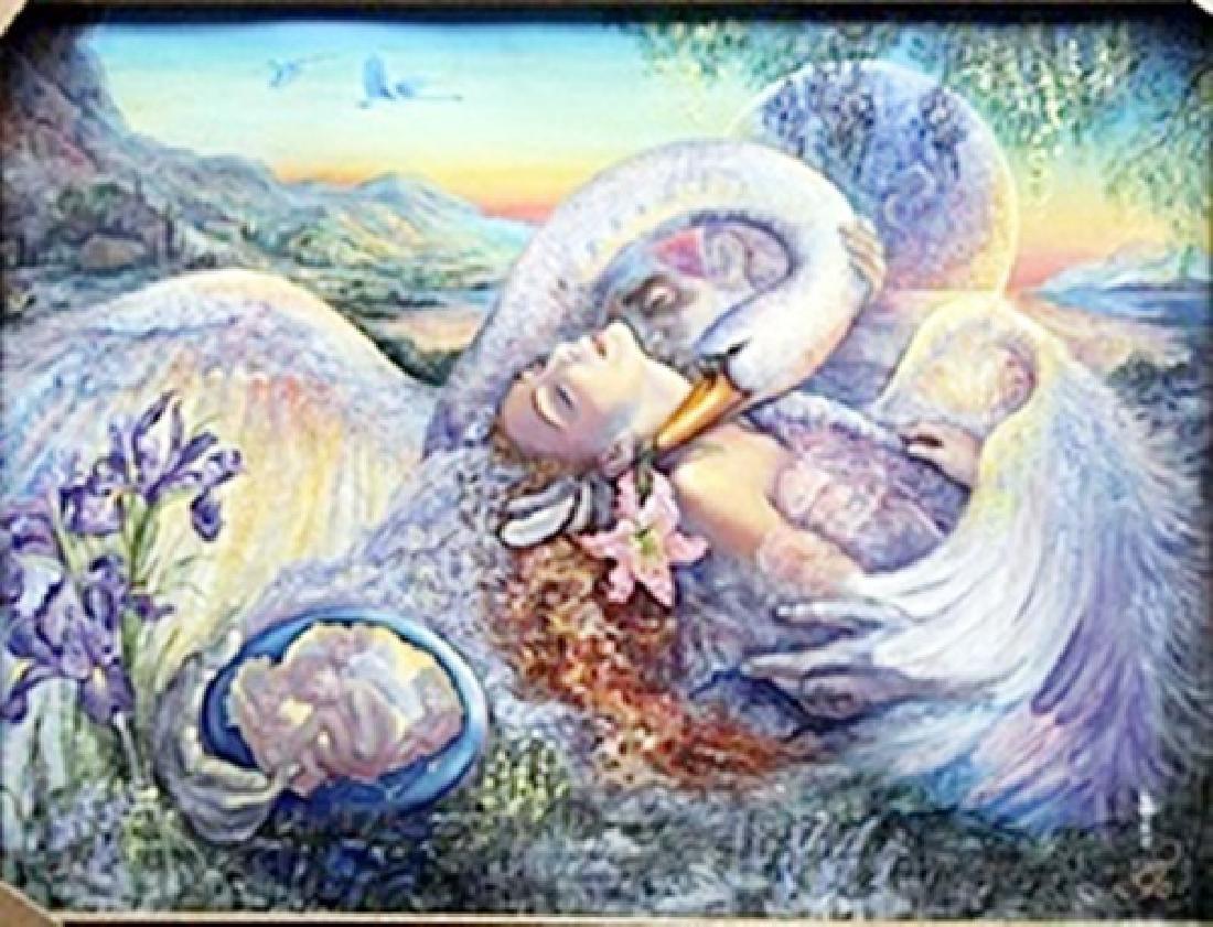 "Giclee ""Ledia & The Swan""  Josephine Wall"
