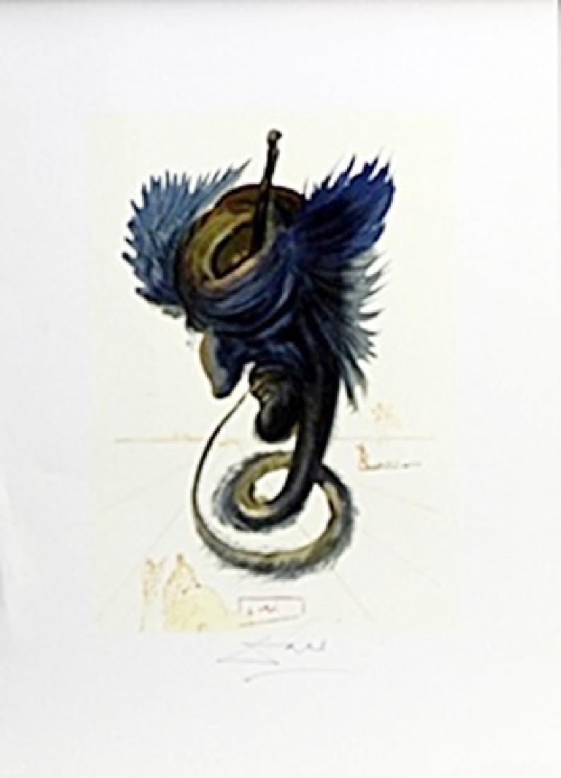 """Lithograph """"The Black Cherub""""   Salvador Dali"""