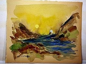 Frederick Waugh Original Watercolor on Paper -
