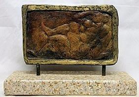 Patina Bronze Sculpture  M. Hugue