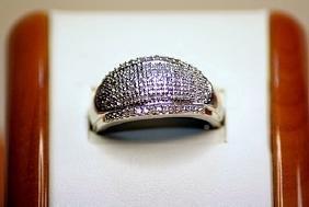 Beautiful Unisex 14kt White Gold Diamond Ring