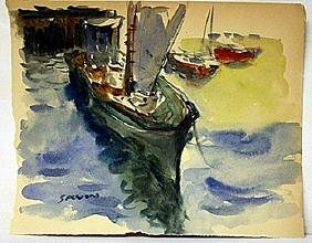James Sessions Original Watercolor on Paper -